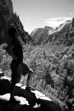 Nathaniel Carroll explores Zion National Park, near Springdale, Utah / MusicGeek.org, Matthew Montgomery